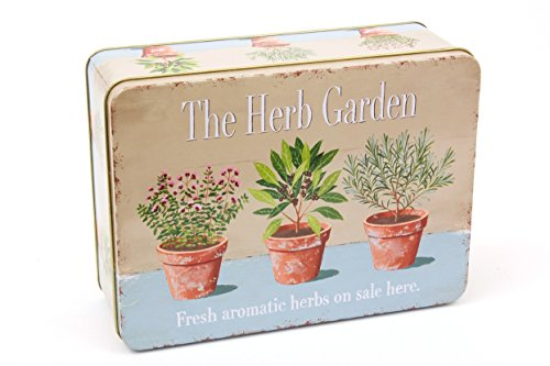 Retro Shabby Vintage Herb Garden in Pots