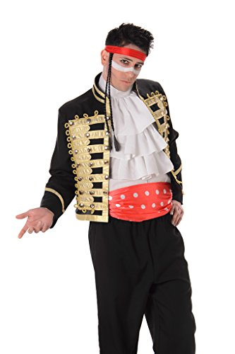 Prince Charming Mens Fancy Dress 80s Celebrity Boy Adam Ant Adults ...