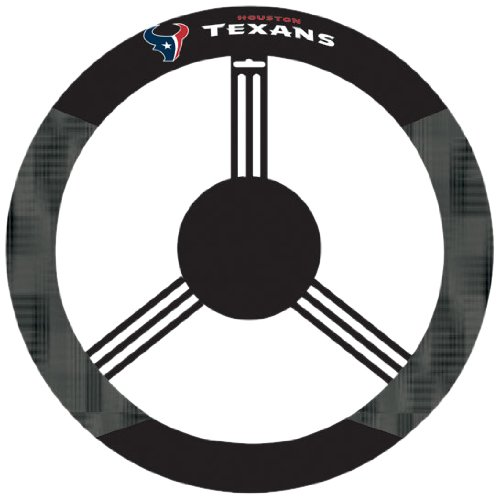 Fremont Die NFL Houston Texans Poly-Suede Steering Wheel Cover
