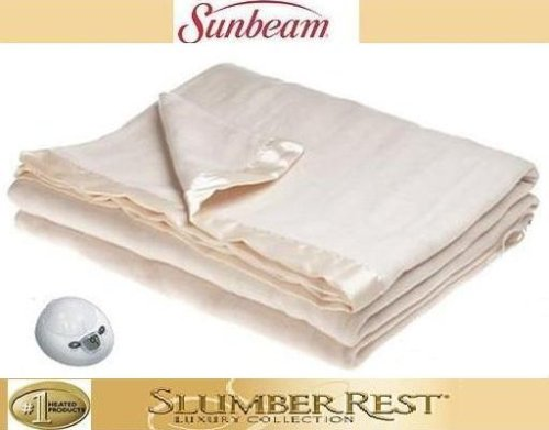 Sunbeam Slumberest Electric Blanket Luxury Collection (Full or Double Size) Seashell (Cream)
