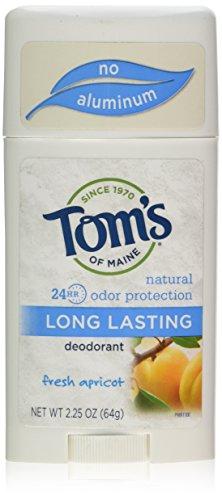 Tom's of Maine Natural Long-Lasting Deodorant Stick Apricot -- 2.25 oz