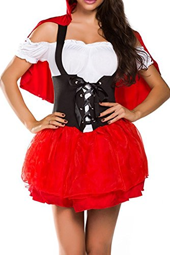 YNChiffonier Fashion Womens French Maid Fancy Costume Dress MulticolorMedium