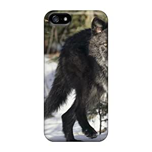 New Cute Funny Black Gray Wolf Case Cover/ Iphone 5/5s Case Cover