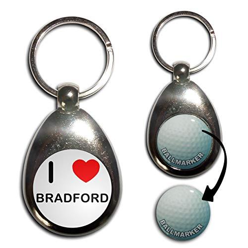 I Love Bradford - Golf Ball Marker Key Ring
