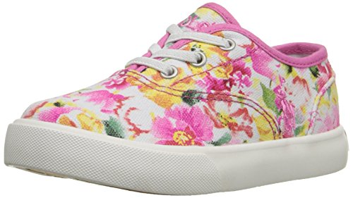 Polo Ralph Lauren Kids Vali Gore P Fashion Sneaker (Toddler/Little Kid), Pink Floral, 8 M US - Lauren Ralph P