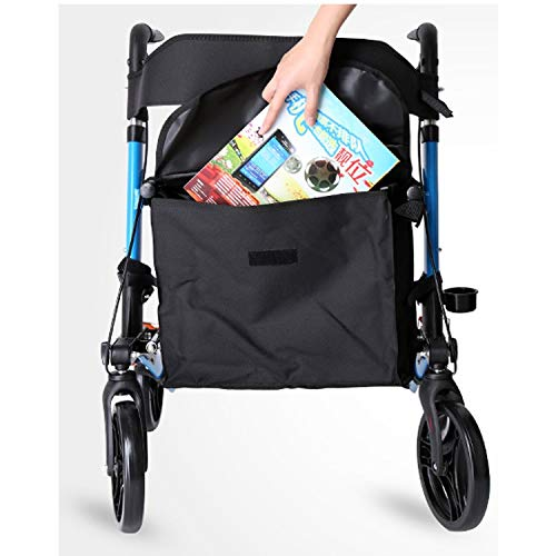 Stand Up Rollator Walker, Adjustable Handle Height with Upholstered Seat and Lower Basket Auxiliary Walking Safety Walker (Size : Blue-A) by YL WALKER (Image #5)