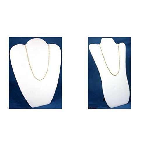 White Faux Leather Padded Necklace - White Velvet & Faux Leather Padded