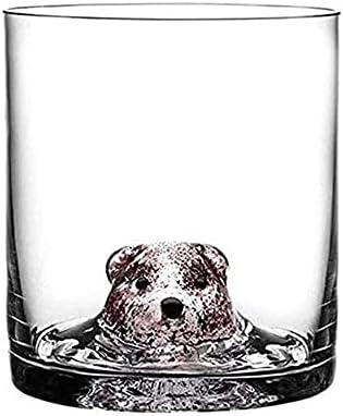 Whisky Glass Gafas Decantadores de regalo Whisky Decanter Vaso Beber Gafas 460 ml Cabeza de animal 3D Gafas de Whisky Gafas Cristal Rocas Escocia Antigua Moda CHIVAS CUBIERTAS DE VINO RED RELANDO Snif
