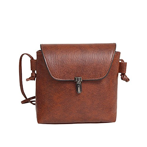 Bag Leather Messenger PU Women's Bag Coffee Hobo Tongshi Shoulder f4FqzzBS