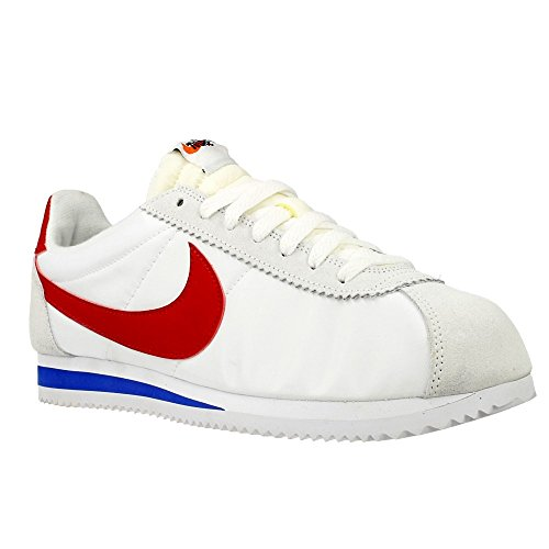 Nike Classic Cortez AW QS Nylon 847709-164 White/Varsity Red-Varsity Royal Shoes - Size Men's 8 US M by NIKE