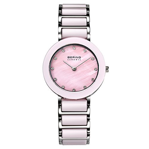 BERING Time 11429-999 Women Ceramic Collection Watch with Stainless-Steel Strap and scratch resistent sapphire crystal. Designed in Denmark