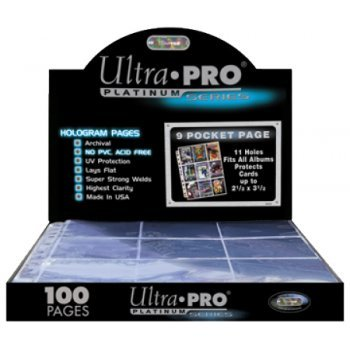 Ultra Pro 9 Pocket Pages Platinum Series (100) by Ultra Pro