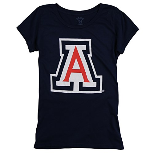 Womens Collegiate 100  Cotton Super Soft Mascot Logo T Shirt  Arizona Wildcats  X Large