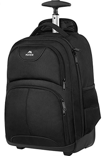 Rolling Backpack, Matein Waterproof Travel Wheeled Laptop Backpack