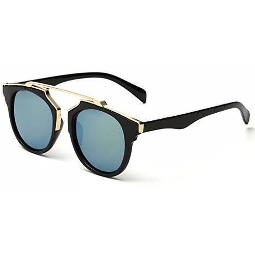 CS Retro Womens Squared Metal Plastic Cat Eye Sunglasses Glasses Eyewear (Black 5, As - 5 Cat Squared