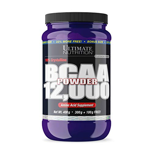 Ultimate Nutrition Flavored BCAA 12,000mg Branched Chain Amino Acid Supplement Powder, Natural Unflavored, ()