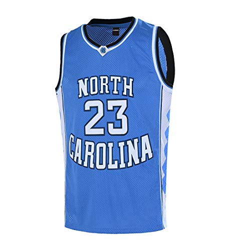 Ausimiar Mens #23 North Carolina Basketball Jersey Retro Jersey Blue S-3XL (Blue, Medium) ()