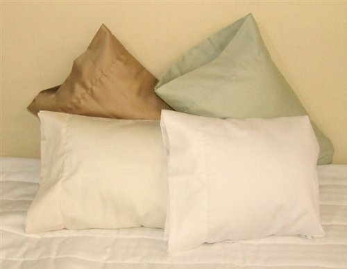 AB Lifestyles 14x21 Child/Toddler/Travel size Junior Pillowcase 100% cotton Color WHITE