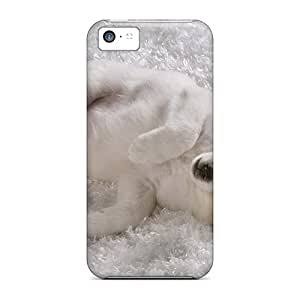 New Snap-on DavidStu Skin Case Cover Compatible With Iphone 5c- White Dogs Sweets Sleepy Canine