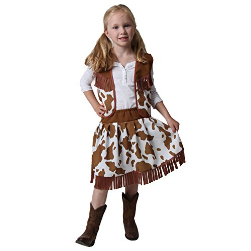 Classic Brown Cowgirl Costume Vest & Skirt Size 2/4 - Cute Cowgirl Costumes