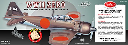 Guillow's WWII Zero Laser Cut Model Kit by Guillow (Image #2)