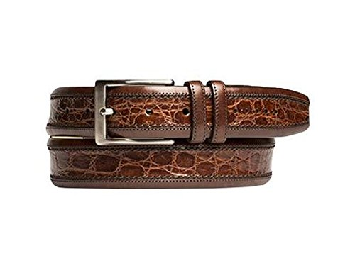 Mezlan Mens Genuine Crocodile Body, SPORT, 44 (AO8597-C) (Mezlan Crocodile Belt)