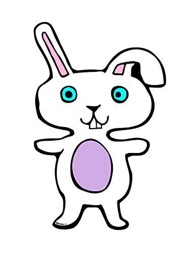Babs Bunny Easter Rabbit Refrigerator, Locker or Car Magnet, 7 3/4 Inch