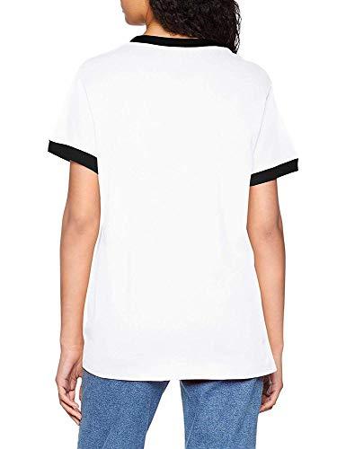 Stripes 3 Femme T Tee Blanc T Adidas shirt 6H8waqq4