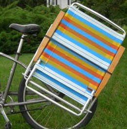(Beach Cruiser Bike Caddy Sports Equipment Chair Holder Accessory)