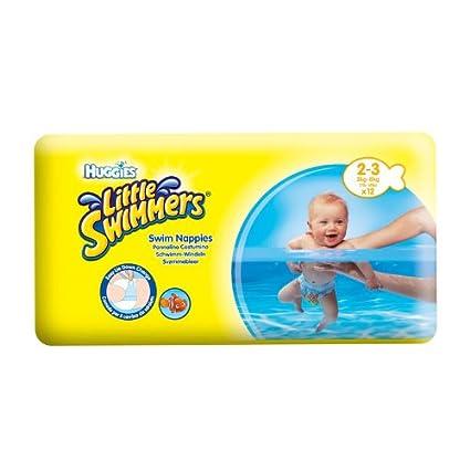Pañales Huggies nadadores de natación litttle 2-3 meses (3 - 8 Kilo)