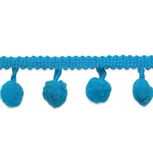 Expo International 0540877 3/4in Pom Fringe Trim-Turquoise ()