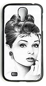 Audrey hepburn Custom Case Hard Durable Case Cover Skin for Samsung Galaxy S4 i9500, Personalized Case by ruishername