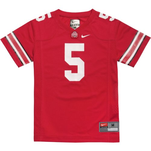 Ohio State Buckeyes Youth Game # Red Football Jersey By Nike (L=14-16) State Nike Football Jersey