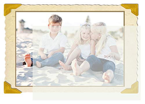100 Soft Off-White Translucent 17# Thin Sheets - 5'' X 7'' (5X7 Inches) Photo|Card|Frame Size - 17 lb/pound Light Weight Fine Quality Paper - Tracing, Fun or Formal Use - Not a Clear Transparent by ThunderBolt Paper (Image #1)