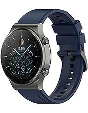 TopTen 22mm horlogeband compatibel met HUAWEI WATCH GT2 Pro/GT 2e/GT 46mm/GT2 46mm/GT Active/Horloge 2 Pro Strap, siliconen horlogeband vervanging polsband