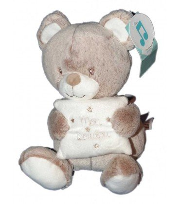 Peluche musical Mon Doudou oso Beige Tex Baby Carrefour