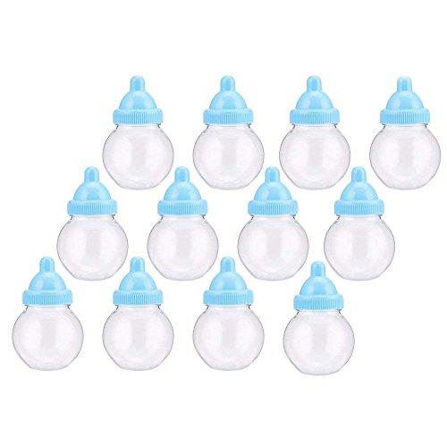 Decora 24 Pieces Mini Plastic Milk Bottle Fillable Baby Show
