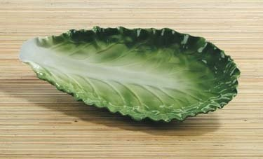 Leaf Vegetable Bowl - Romaine Leaf Lettuce Collectible Vegetable Ceramic Pasta Plate