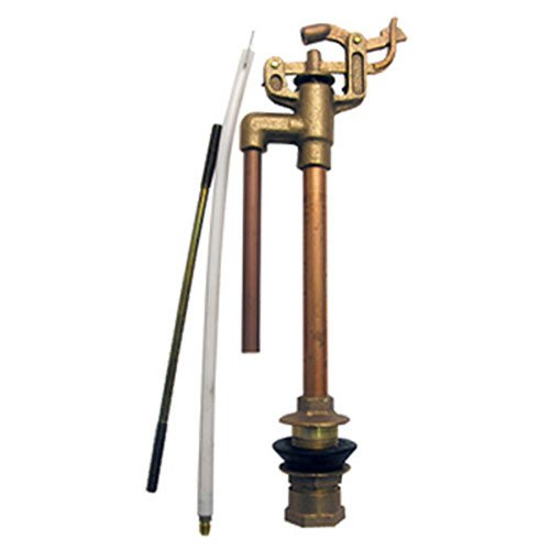 LASCO 04-4011 Anti-Syphon Brass Import 09 Mansfield Style Replacement Toilet Ballcock with Float Rod, Refill Tube and Nut