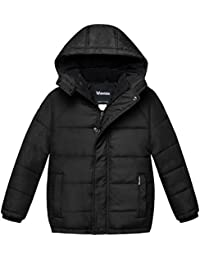 Boy's Padded Winter Coat Thicken Warm Jacket With Detachable Hood