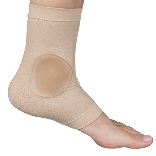 Vinyl Ice Skates - ZenToes Ankle Bone Protection Socks Malleolar Sleeves with Gel Pads for Boots, Skates, Splints, Braces - 1 Pair