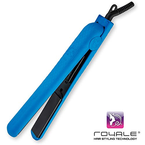 Royale Classic Flat Iron with 100% Solid Ceramic Plates with Infrared. Preserves Moisture for Soft, Beautiful Hair Like Expensive Salon. 8 Exciting Colors, 5 Year Warranty. Gift Heat Mat, Shampoo & Conditioner