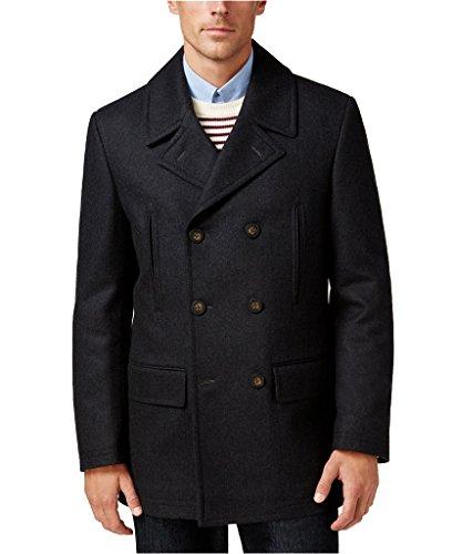 Ralph Lauren Top Coat (Lauren by Ralph Lauren Men's Double-Breasted Solid Wool-Blend Peacoat - Charcoal - 46R)