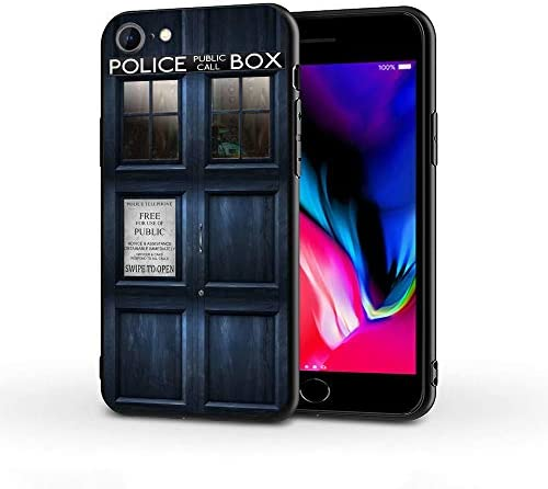 Silicone Case Compatible with iPhone 7 iPhone 8 iPhone SE, Full Body Protection Cover Case (Doctor-Who-Tardis-Door)