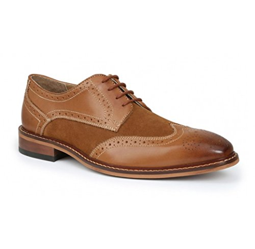 Giorgio Brutini Men's Roan Oxfords, Tan Leather, 14 M Brutini Wingtip