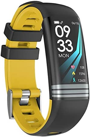 kkart Led Screen Women Men Smart Watch Waterproof Sport Digital Watch Blutooth Blood Pressure Heart Rate Sleep Monitor For Men Women Yellow