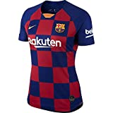 Nike 2019-2020 Barcelona Home Ladies Football Soccer T-Shirt Jersey
