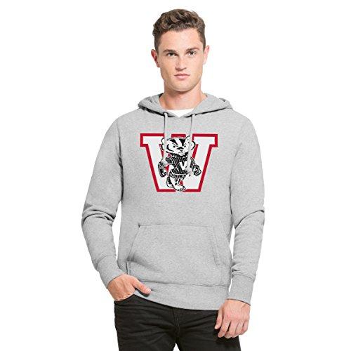 '47 NCAA Wisconsin Badgers Men's Headline Pullover Hoodie, Medium, Slate Grey