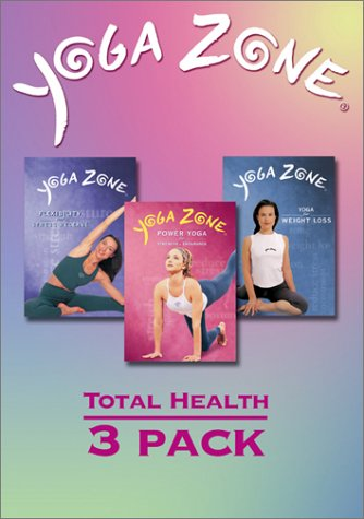 Yoga Zone Total Health 3-Pack (Flexibility and Stress Release / Power Yoga for Strength and Endurance / Weight Loss)