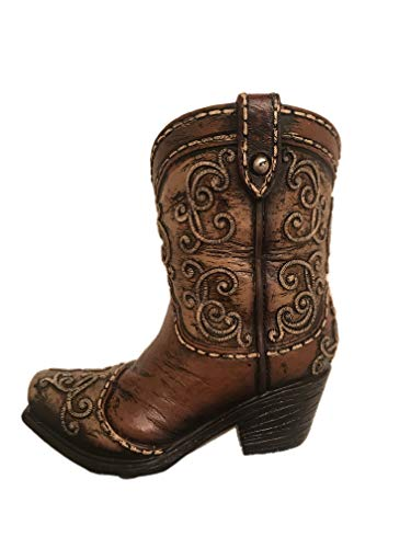 Polly House 4.75 Inches Western Style Boot Pen Holder 9261 ()
